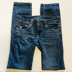 American Eagle Outfitters Skinny Blue Jeans Size 2